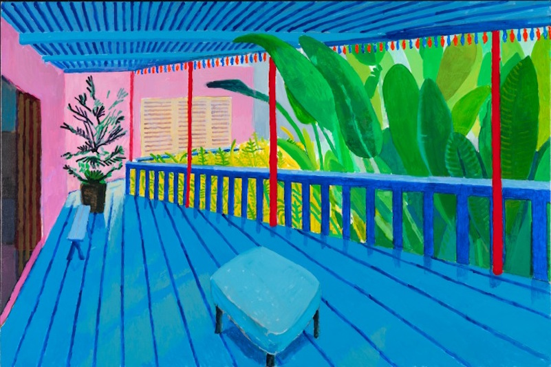 David Hockney_Garden With Blue Terrace_2015_Photo Credit_Richard Schmidt